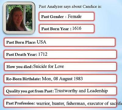 Past life analyzer online dating 10